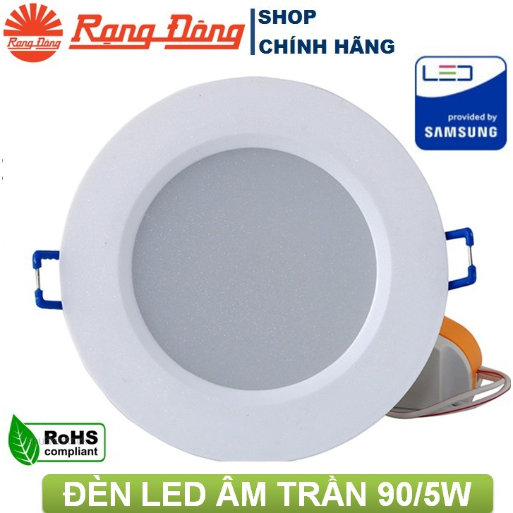 Đèn LED âm trần 5W Rạng Đông, khoét lỗ 90mm