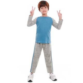 Bộ đông bé trai Narsis KE9063 màu ghi ánh xanh thumbnail