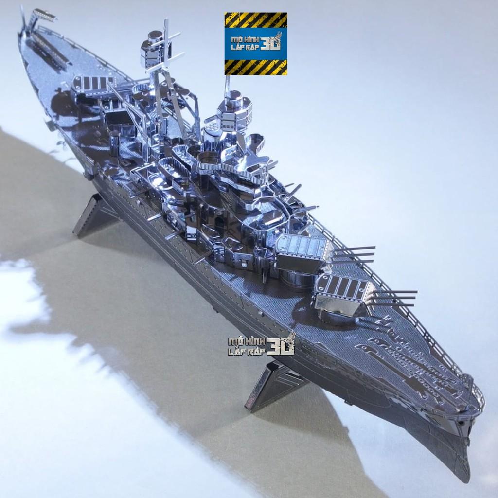 Mô hình 3D Kim Loại Lắp Ráp Thiết Giáp Hạm USS Arizona BB-39 Hải Quân Mỹ [Chưa Lắp]