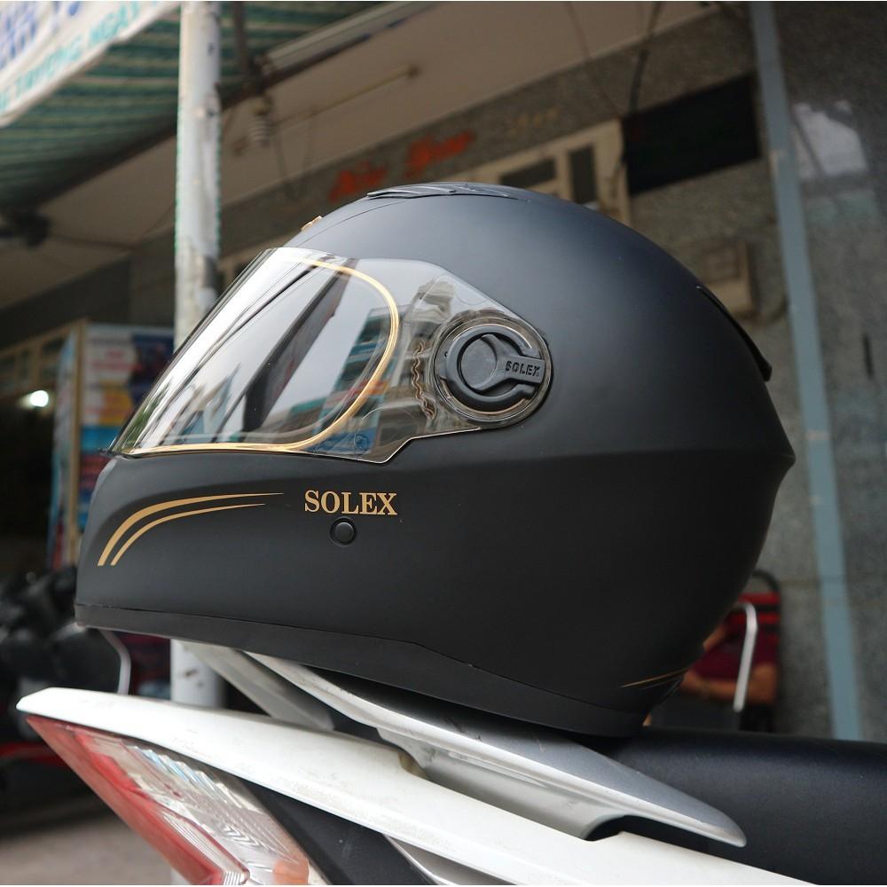 Nón bảo hiểm fullface-Đen nhám-chính hãng napoly