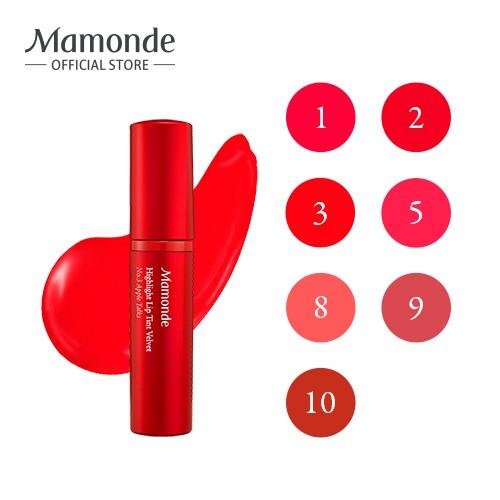 Son tint dưỡng ẩm cho môi mềm mịn lì như nhung Mamonde Highlight Lip Tint Velvet 5g
