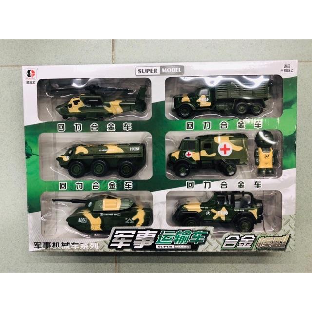 Bộ Sưu Tập 6 Mẫu Xe Quân Sự Siêu Xịn Sò /6 Toy Military Vehicles