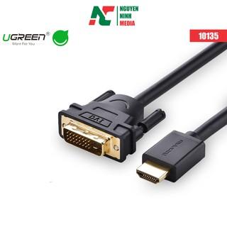 [Mã ELFLASH5 giảm 20K đơn 50K] Cáp chuyển đổi HDMI to DVI 24+1 Dài 2M chính hãng Ugreen 10135