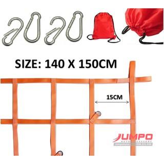 Lưới trùm hàng thùng xe bán tải 150X140 ô 15cm