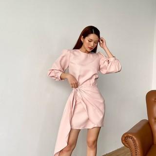 Đầm Kiểu Nữ Tay Lửng Vắt Tà 4 Màu EDINI - D1161 thumbnail