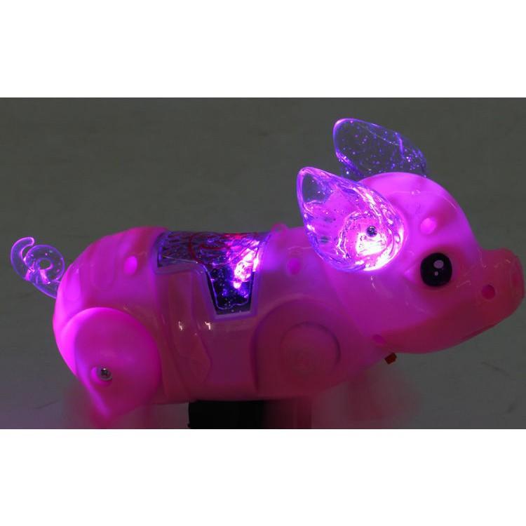 (Mua Ngay Kẻo Hết) Đồ chơi con heo biết đi có nhạc, đèn, dây dắt-6854 (Rẻ Là Mua)