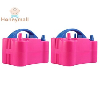 ☻HON☻Portable Double Hole Inflatable Electric Inflator Air Balloon Blower Pump✔✔