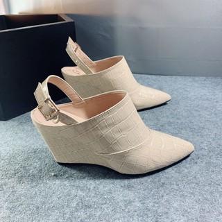 RO275 Giày đế xuồng bít mũi thời trang xu hướng chính hãng ROSATA cao 7 phân , chất liệu siêu thumbnail