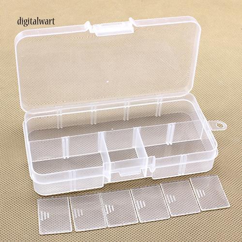 Hộp nhựa 10 ngăn đựng trang sức tiện lợi