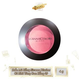 [Auth Thái] Phấn Má Hồng Sivanna Có Nhũ Tông Cam Hồng (Ít Nhũ) 09 - Phấn má hồng lì ít nhũ tông cam hồng thumbnail