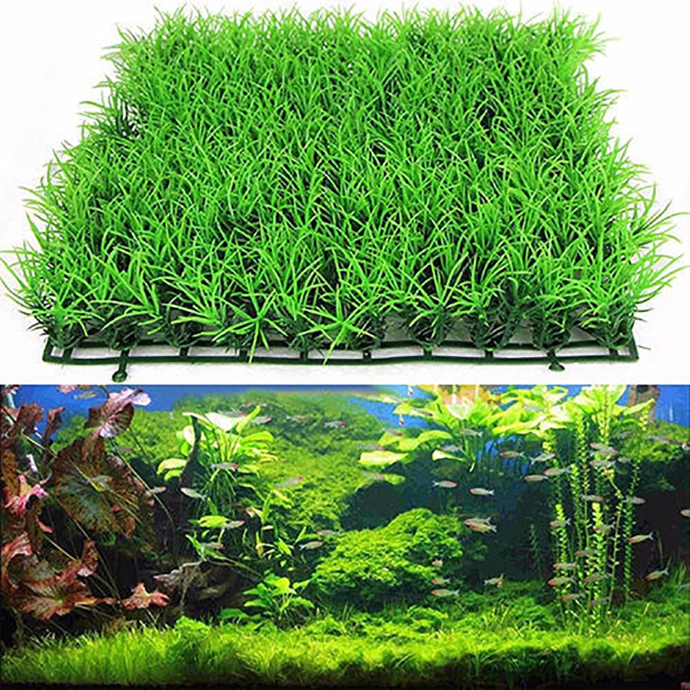 Fish Tank Aquarium Accessories Decor Artificial Green Grass Fake Plant 1Pcs