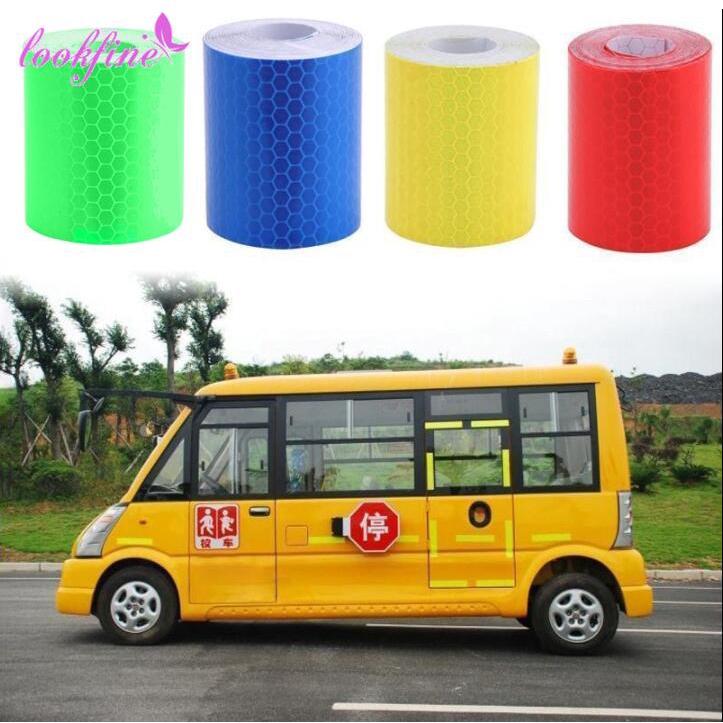 Băng keo giữ an toàn phản quang đỏ / xanh lá / vàng / xanh dương