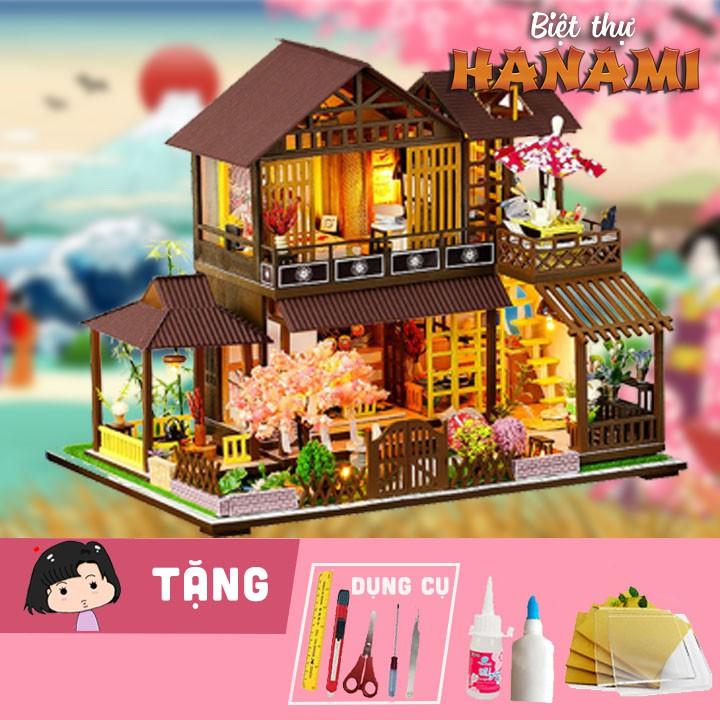 Mô hình nhà gỗ tự ráp Biệt thự Hanami