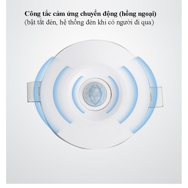 [HY-100W] Công tắc cảm biến ÂM TRẦN hồng ngoại - DẸP