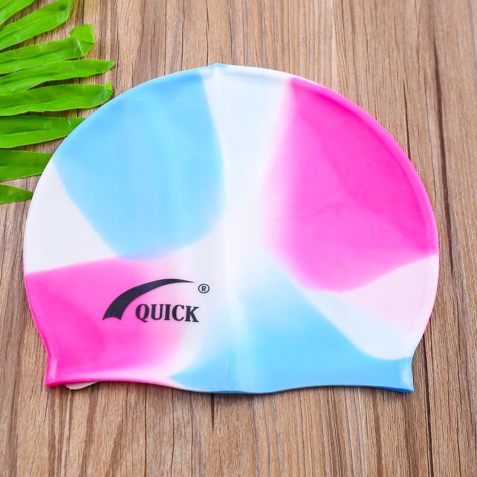 Mũ bơi silicon bền, đẹp QUICK (Giao màu ngẫu nhiên)