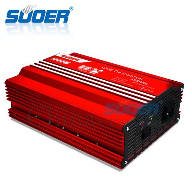 Inverter Grid tie 1000w 24v กริดไทล์อินเวอเตอร์ รุ่นมีหน้าจอรีโมทแสดงผล Suoer GTI-D1000B