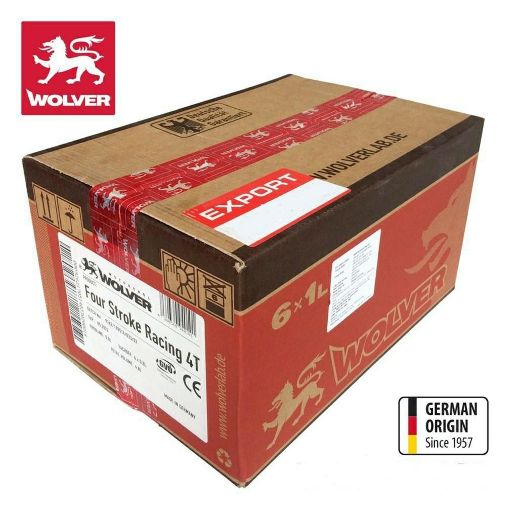 Combo Thùng 6 Lon Nhớt Wolver Racing 4T tổng hợp 10W40 800ml