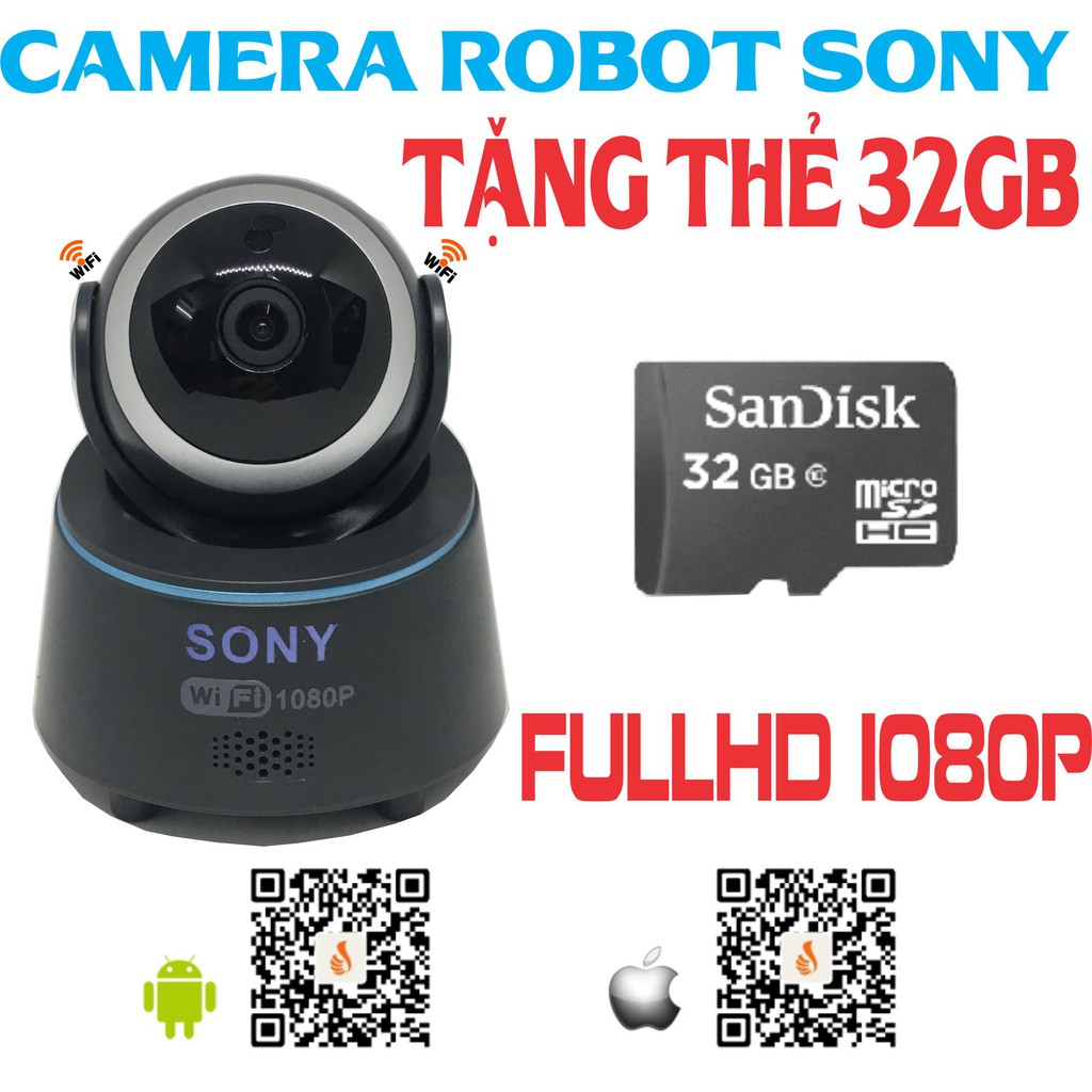 [COMBO] Camera robot Sony tặng thẻ 32gb