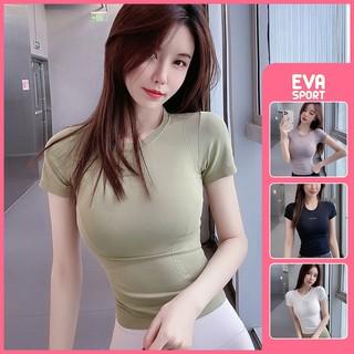 Áo tập gym Ami cộc tay tập yoga, thể thao, zumba nữ Eva Sport cao cấp vải dệt kim, co giãn tốt, ôm dáng, fit người thumbnail