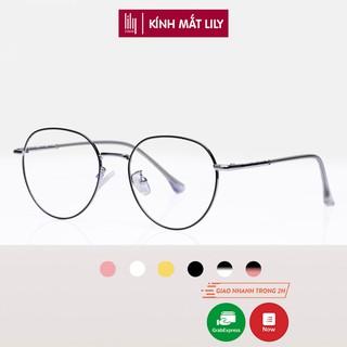 Gọng kính cận nữ Lilyeyewear kim loại, mắt tròn, nhiều màu - Y2998