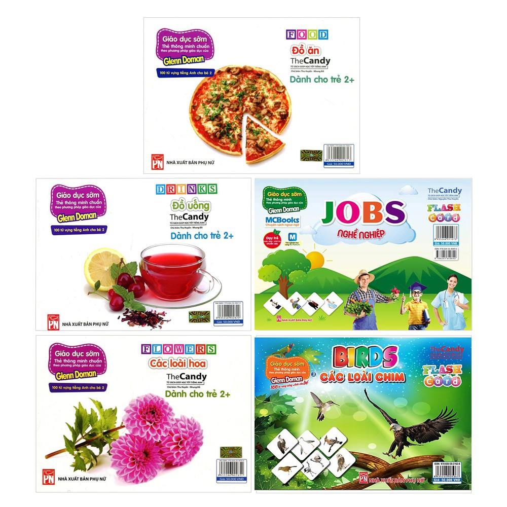 Flashcard - Chủ Đề Bất Kì Dành Cho Bé (Đồ ăn, Đồ uống, Loài chim, Loài hoa, Nghề Nghiệp)