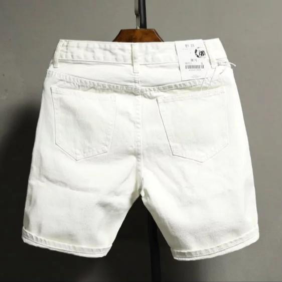 Quần short jean nam trắng đen _ quần lửng jean quần ngắn nam