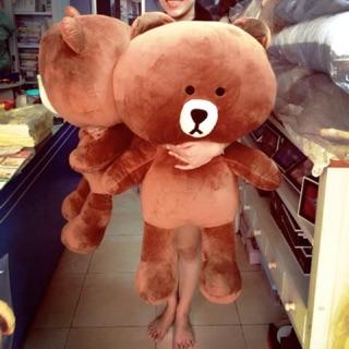 Gấu bông Brown 1m, gấu brown nhồi bông