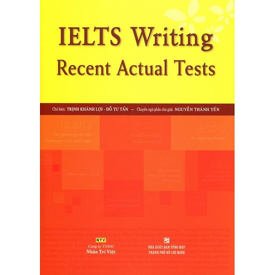sách - IELTS Writing Recent Actual Tests (Không CD)
