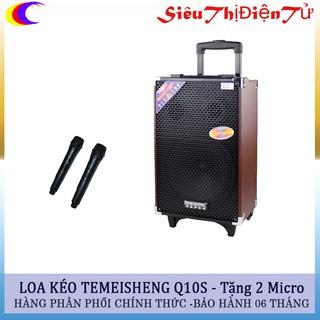 Loa kéo temeisheng q10s có 02 mic - Loa kẹo kéo temeisheng hàng loa chính hãng - loa bass 25cm chạy bình ác quy