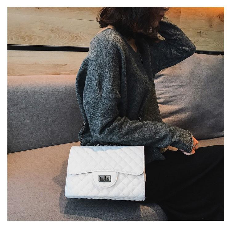 Túi xách đeo chéo nữ trần chỉ thời trang BO14