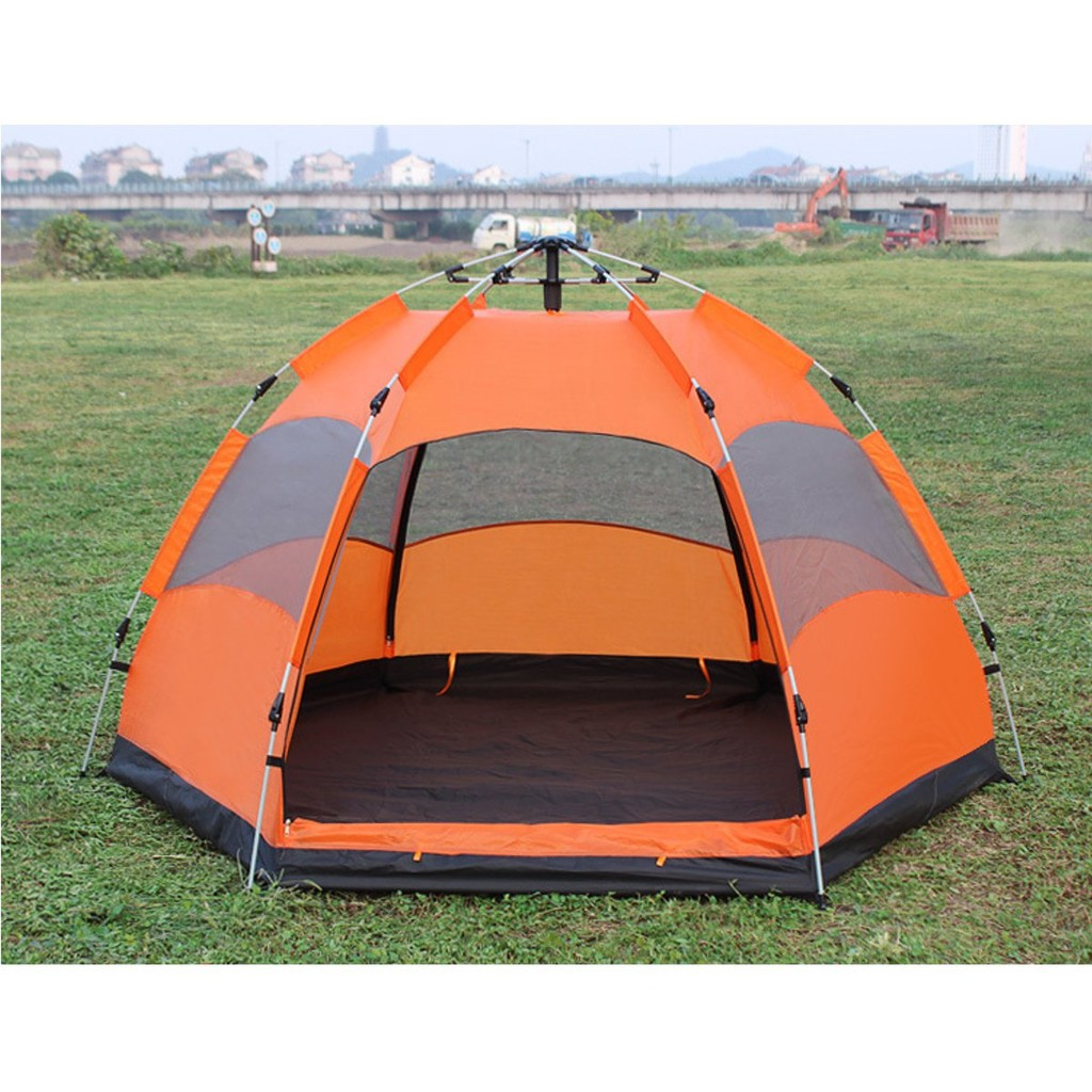 ZJ◎5-8 People Waterproof Automatic Outdoor Instant Pop Up Tent Camping