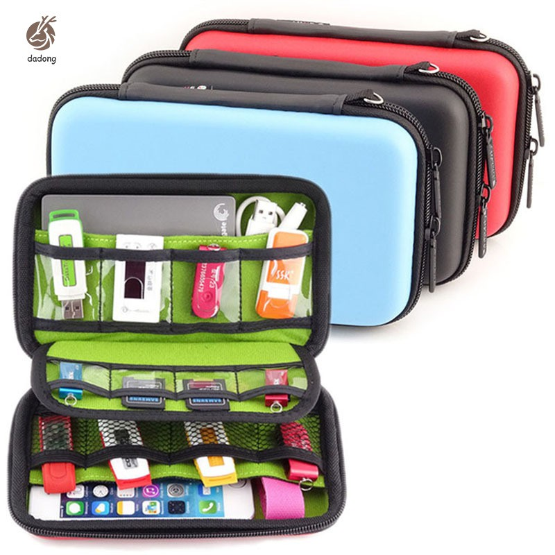 Portable Hard Drive EVA Waterproof Headset USB Flash Drive Digital Storage Bag pochette Hard Drive 2