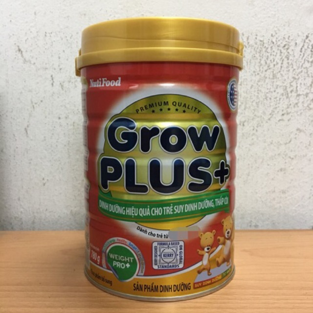 Sữa NutiFood Grow Plus+ 780g cho trẻ suy dinh dưỡng, thấp còi
