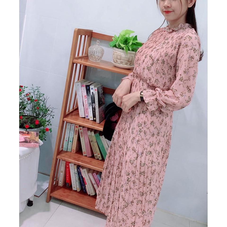 Đầm hoa cột eo