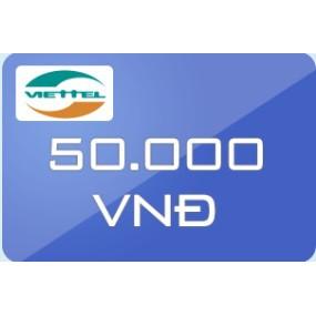 Thẻ Viettel mệnh giá 50.000 - 3170633 , 449852205 , 322_449852205 , 50000 , The-Viettel-menh-gia-50.000-322_449852205 , shopee.vn , Thẻ Viettel mệnh giá 50.000