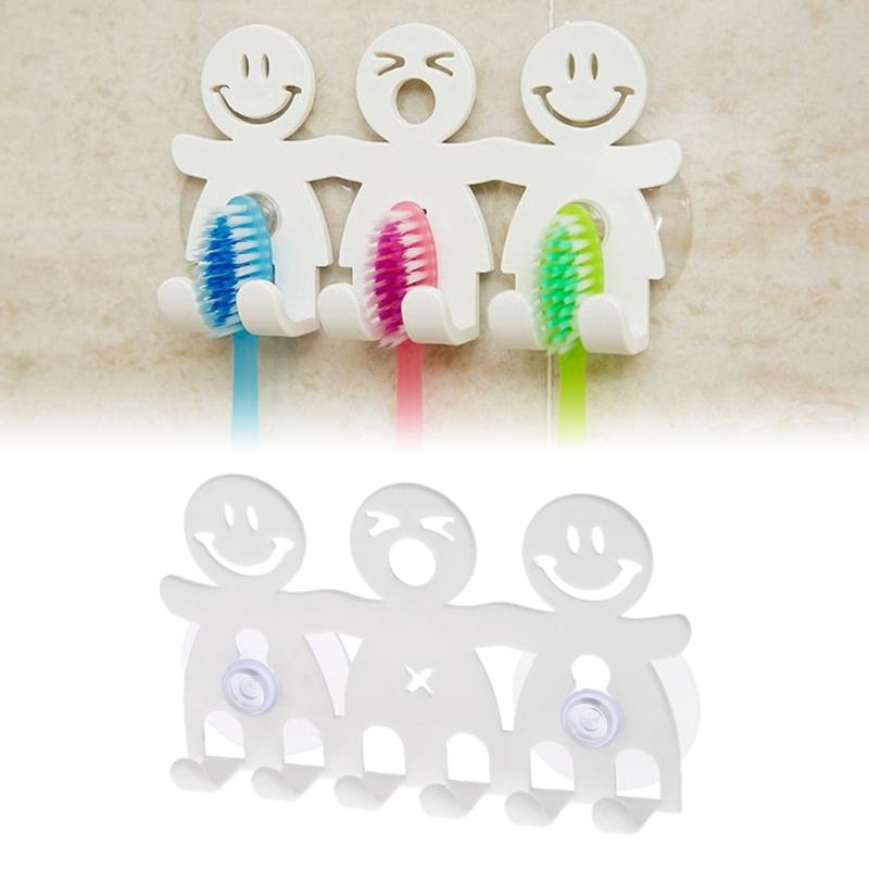 Giá treo bàn chải đánh răng gắn tường 5 giác hút chân không tiện dụng