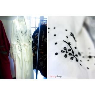 Kimono lụa thêu thumbnail