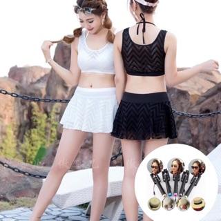 Bộ bơi bikini 2 mảnh chân váy kèm quần trong thumbnail