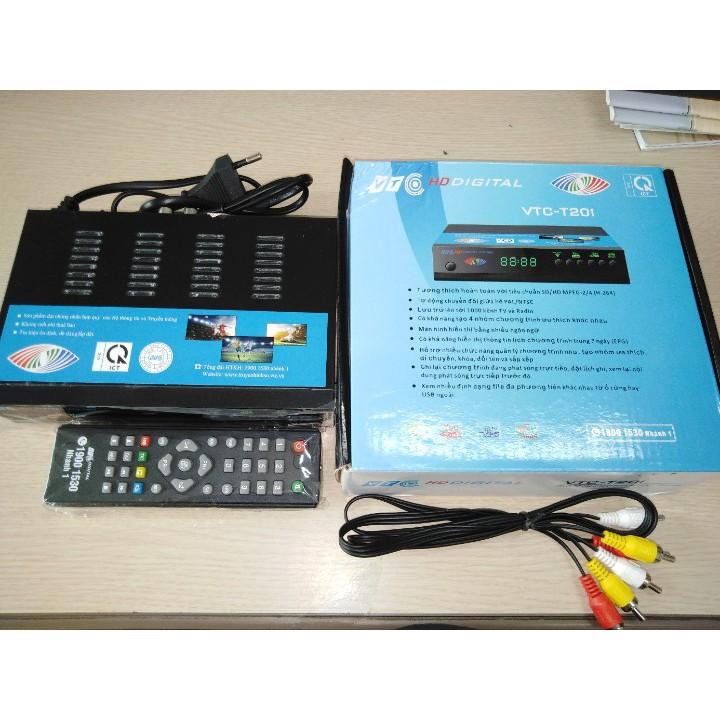 Đầu thu truyền hình số mặt đất DVB T2 VTC T201