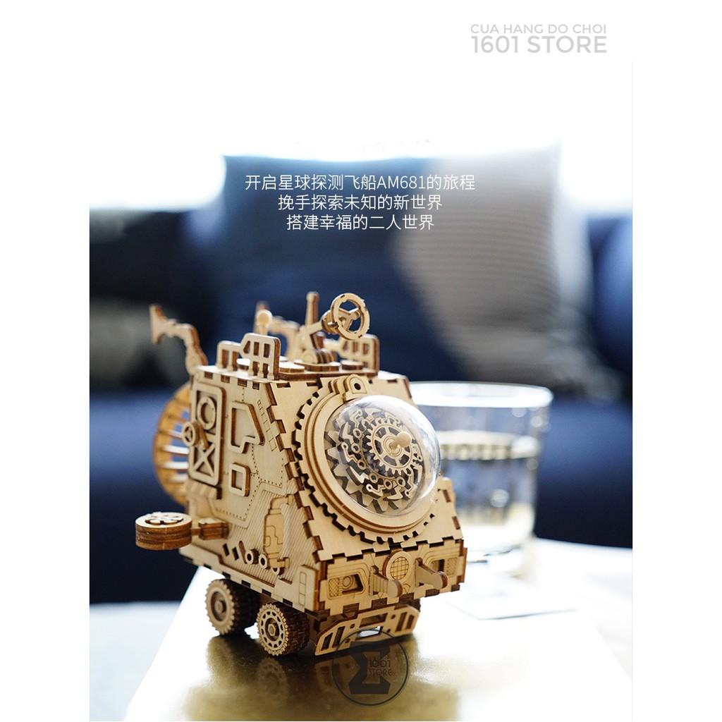 Đồ chơi lắp ráp cơ khí – Hộp nhạc Phi thuyền (Musicbox – Space Vehicle Robotime)
