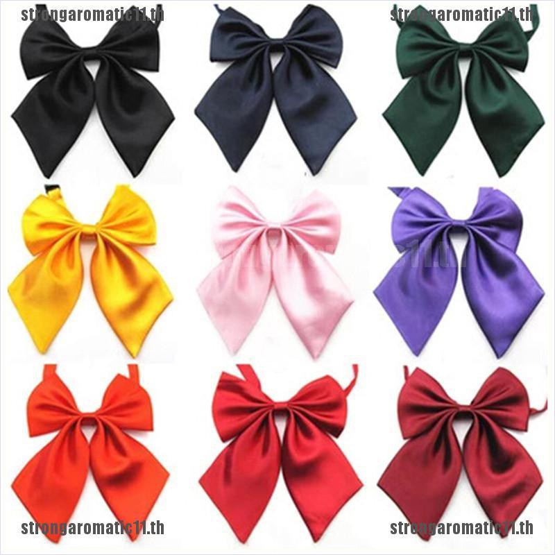[STR]Women Lady Girls Butterfly Bowtie Silk Bow Ties Formal Bow Tie New Fashi