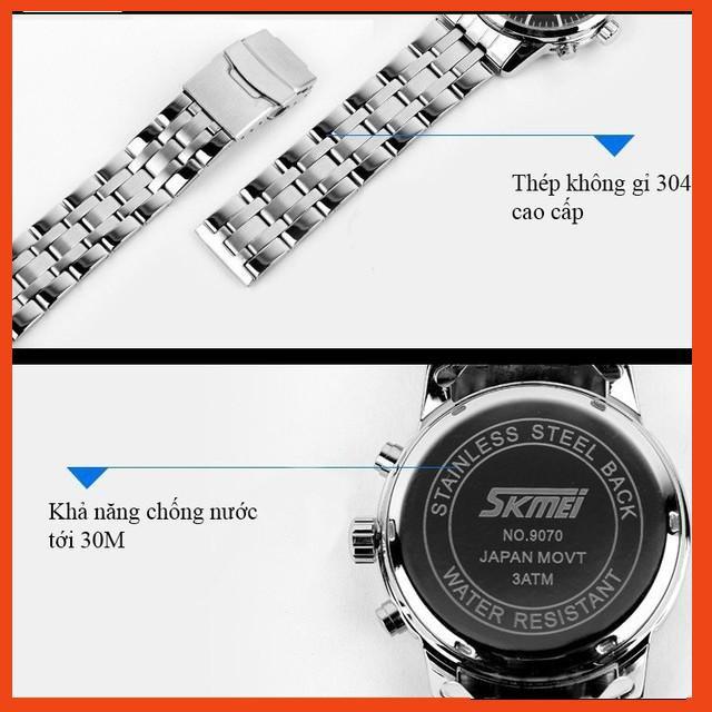 [Bão sale] Đồng hồ nam SKMEI dây da thời trang cao cấp dẫn đầu xu hướng SME20 - Đồng Hồ Quốc Tế