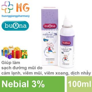 Xịt mũi ưu trương Nebial 3% - Giúp làm sạch đường mũi trong các trường hợp cảm lạnh, viêm mũi, viêm xoang, dịch nhày thumbnail
