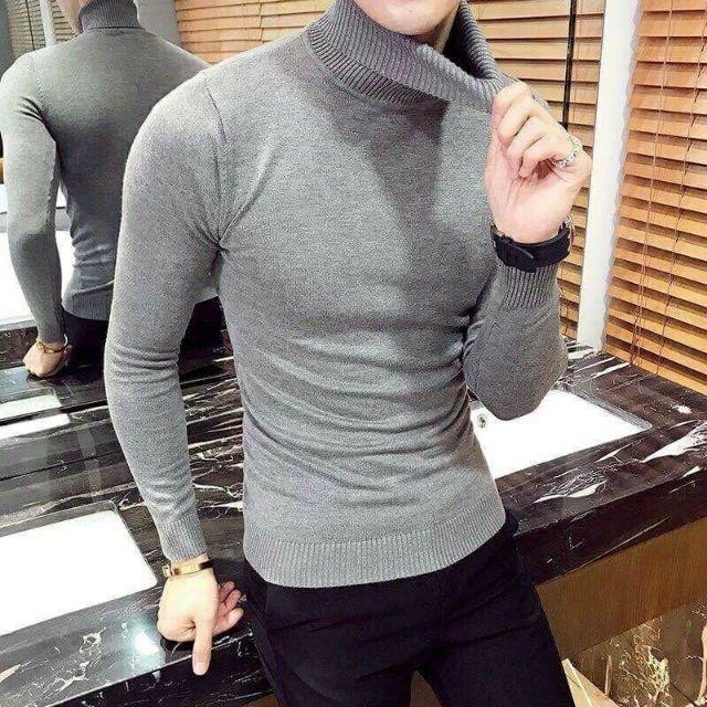 [Hangsieure] [SALE]Combo 2 áo len nam cổ lọ đủ 9 màu từ 48-70kg chất lượng cao [có video]