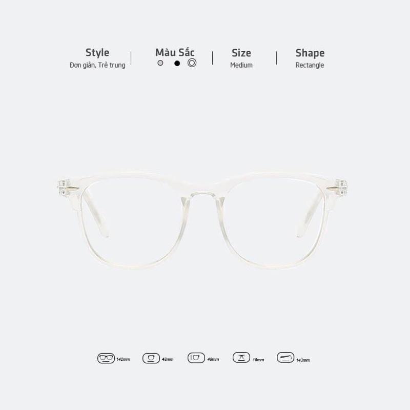 Kính mát nam nữ TRONG TRẮNG phong cách Hàn Quốc mới nhất 2020, thiết kế mắt dễ đeo, màu sắc...