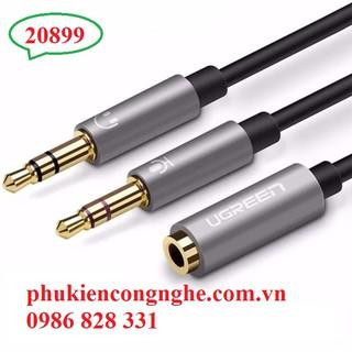 [Mã ELFLASH5 giảm 20K đơn 50K] Cáp chuyển Audio 3.5mm ra 2 đầu dương 3.5mm Mic, Loa UGREEN 20899