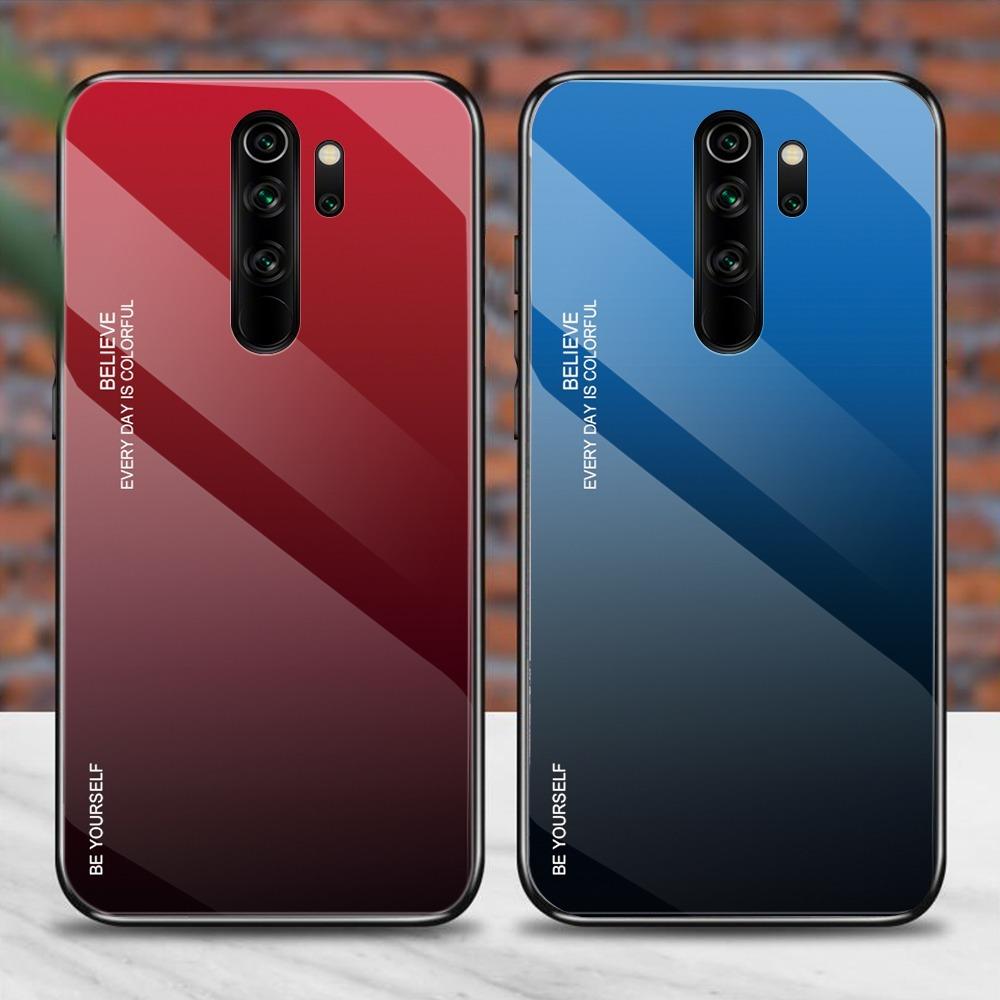 Luxury Phone Case Redmi 8A Case Gradient Tempered Glass Case For Xiaomi Redmi 8 8A 9 9A Cover