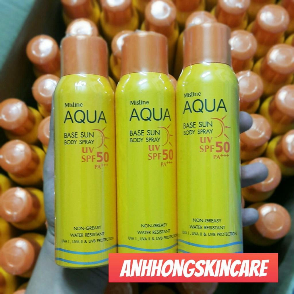 Xịt Chống Nắng Mistine Aqua Base Sun Body Spray SPF50 - 3203070 , 1264765649 , 322_1264765649 , 240000 , Xit-Chong-Nang-Mistine-Aqua-Base-Sun-Body-Spray-SPF50-322_1264765649 , shopee.vn , Xịt Chống Nắng Mistine Aqua Base Sun Body Spray SPF50