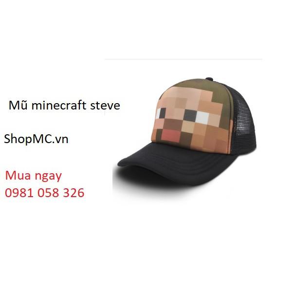 Mũ lưỡi trai minecraft steve
