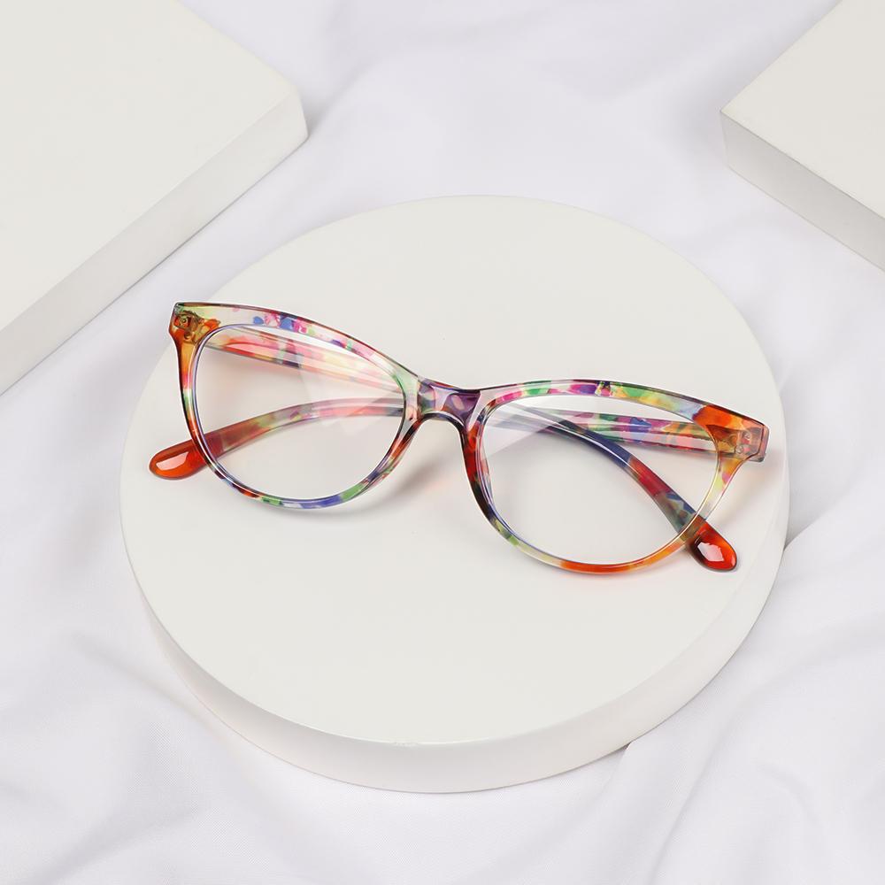 CLEVER Fashion Optical Eyewear Classic Computer Goggles Anti-blue Light Glasses Women Vision Care Retro Vintage Printing Presbyopia Eyeglasses